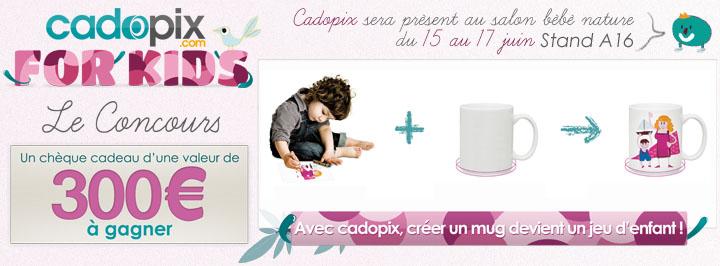 Venez créer vos mugs sur le stand A16 de Cadopix au salon Bébé Nature les 15, 16 et 17 juin 2012 à Paris