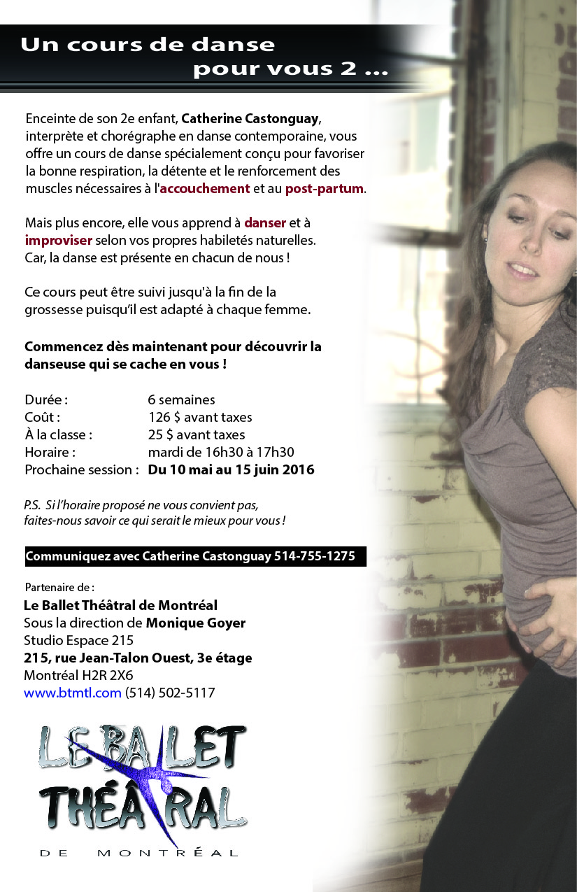 Cours de danse pour femmes enceintes