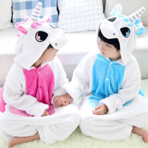 Winter-Children-Blue-Pink-Kawaii-Anime-Hoodie-font-b-Unicorn-b-font-font-b-Pajama-b